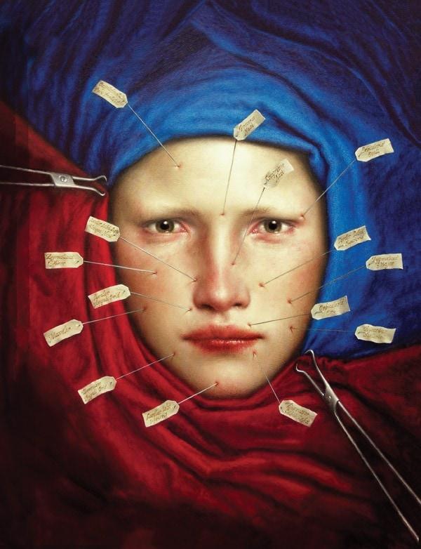LECTIO.  oil/wood 25x25 cm. 2006
